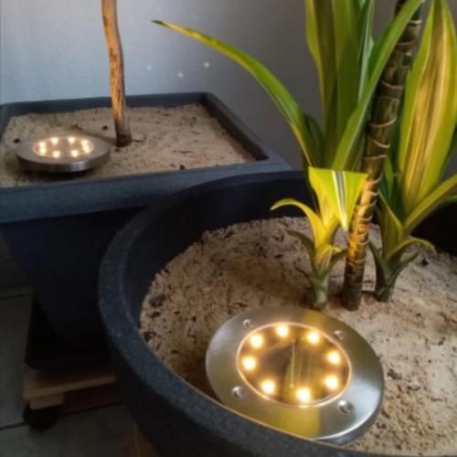 4 LED napelemes lámpa photo review