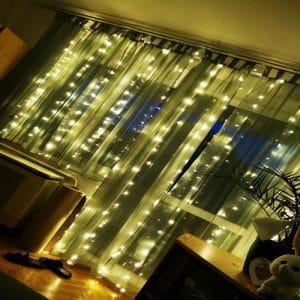 Dekoratív fények - függöny 3x3m photo review