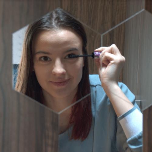 Hatszögletű tükrös falmatricák (6 darab) photo review